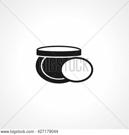 Female Powder And Brush Icon. Female Powder And Brush Isolated Simple Vector Icon.