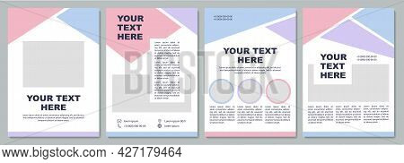 Corporate Introduction Brochure Template. Flyer, Booklet, Leaflet Print, Cover Design With Copy Spac