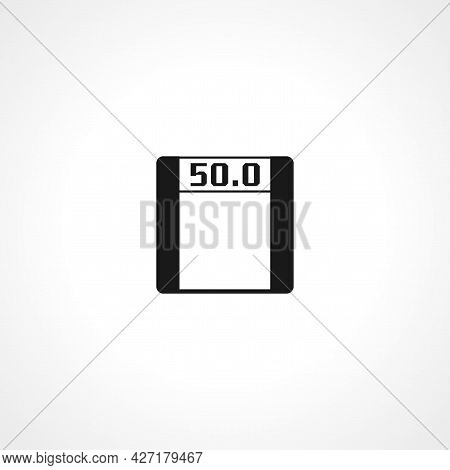 Electronic Fitness Scales Icon. Electronic Fitness Scales Isolated Simple Vector Icon.