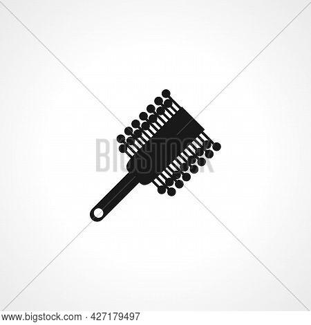Hair Brush Icon. Hair Brush Isolated Simple Vector Icon.