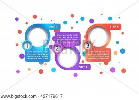 Multicolor Business Vector Infographic Template. Company Phase Presentation Design Elements With Tex