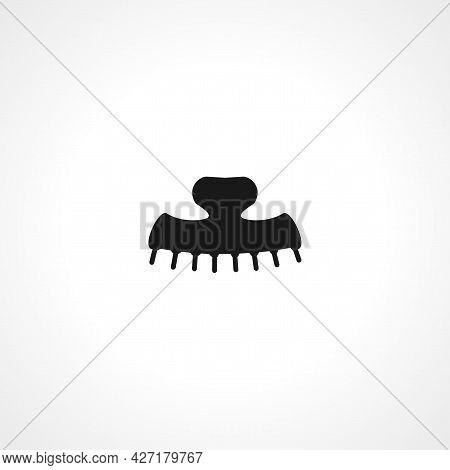 Hair Clamp Icon. Hair Clamp Isolated Simple Vector Icon.