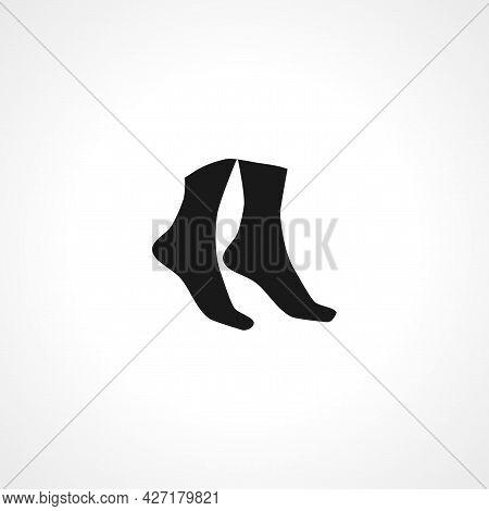 Legs Icon. Legs Isolated Simple Vector Icon.
