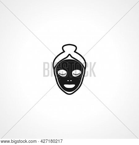 Spa Procedure Glyph Icon. Face Mask Isolated Simple Vector Icon.