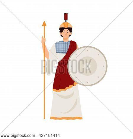 Athena Goddess Of Wisdom, Warfare And Arts In Ancient Greek Mythology.