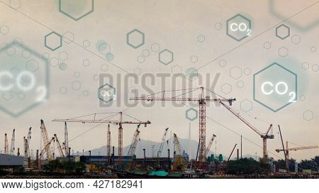 Global carbon emission with construction background