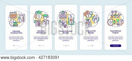 Internship Programs Financing Options Onboarding Mobile App Page Screen. Scholarship Walkthrough 5 S