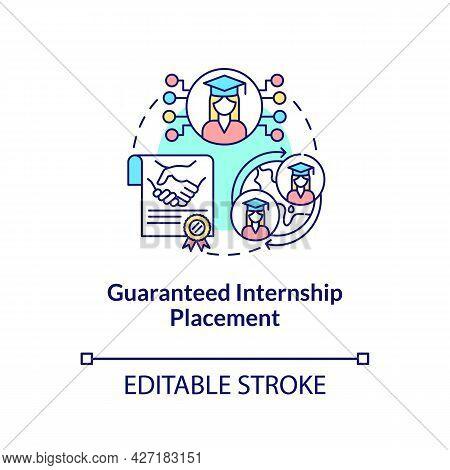 Guaranteed Internship Placement Concept Icon. Internship Program Benefit Abstract Idea Thin Line Ill