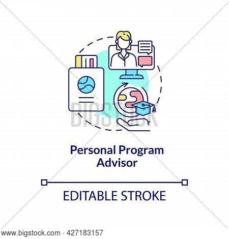 Personal Program Advisor Concept Icon. Internship Program Benefit Abstract Idea Thin Line Illustrati
