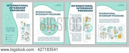 International Internship Programs Brochure Template. Study Abroad. Flyer, Booklet, Leaflet Print, Co