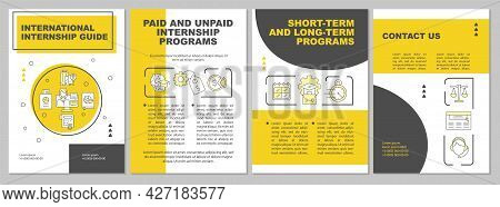 International Internship Guide Brochure Template. Programs Term. Flyer, Booklet, Leaflet Print, Cove
