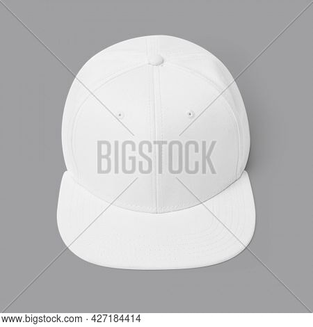Simple white and pink cap headwear accessory