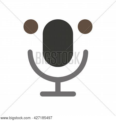 Silhouette Of The Microphone Resembles The Appearance Of A Koala. Concept For Lovers Of Koalas And M