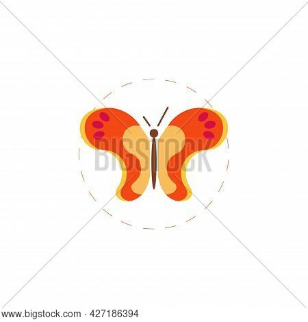 Butterfly Clipart. Butterfly Isolated Simple Flat Vector Clipart