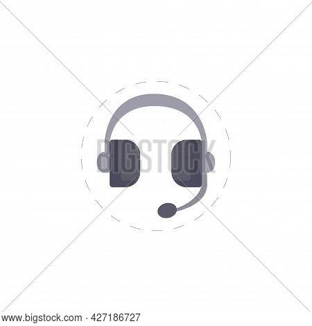 Headphones Clipart. Headphones Isolated Simple Flat Vector Clipart