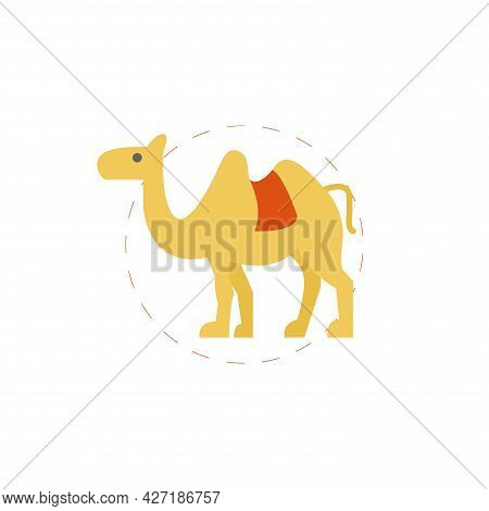 Camel Clipart. Camel Isolated Simple Flat Vector Clipart