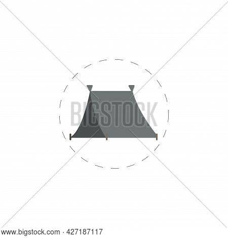 Camping Tent Clipart. Camping Tent Isolated Simple Flat Vector Clipart