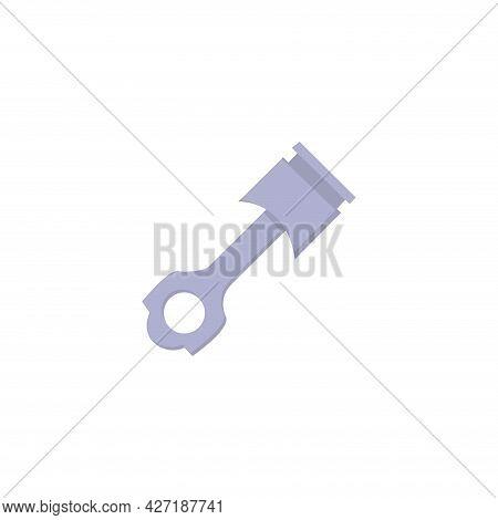 Car Piston Clipart. Car Piston Isolated Simple Flat Vector Clipart