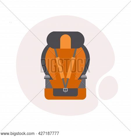 Car Seat With Sports Seat Belts Clipart. Car Seat With Sports Seat Belts Isolated Simple Flat Vector