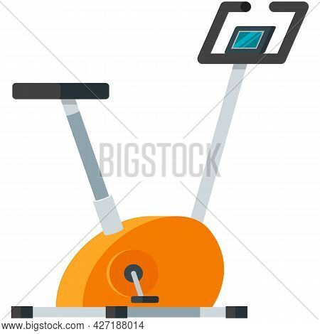 Stationary Bike Exercise Gym Vector Icon On White
