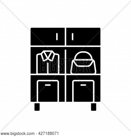Home Organization Black Glyph Icon. Smart Storage Solutions. Restoring Order In Home. Maximizing Spa