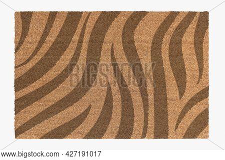 Zebra printed door mat room essential