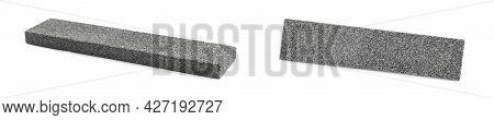 Sharpening Stones For Knife On White Background, Collage. Banner Design