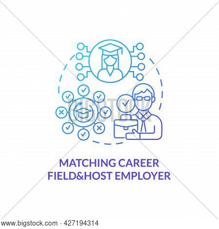 Matching Career Field And Host Employer Concept Icon. Internship Procedure Abstract Idea Thin Line I