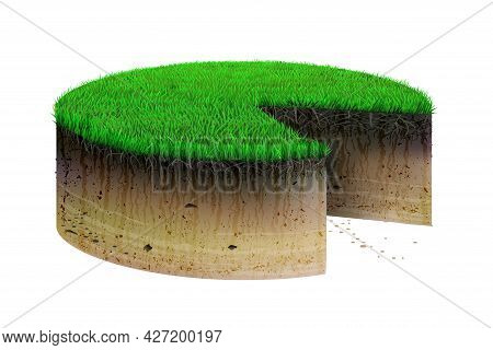 Concept Cake From Land Plot Of Field
