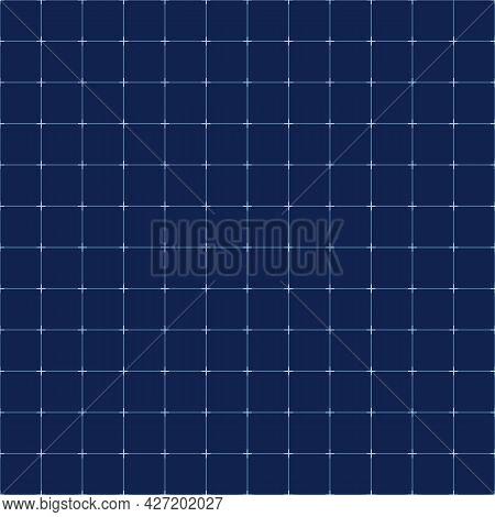 Digital Screen Grid. Blue Tech Line Seamless Pattern, Vector Futuristic Gridding Lines Technology Ba