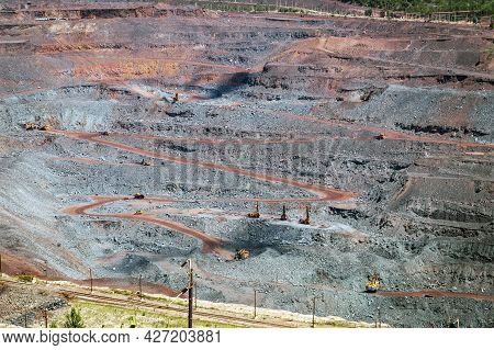 Iron Ore Extraction In The Quarry Of The Mikhailovsky Mining And Processing Plant