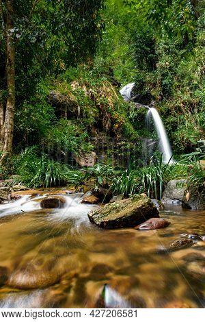 Mon Tha Than Waterfall It Beautiful Most Famous In Doi Suthep-pui National Park, Chiang Mai, Thailan