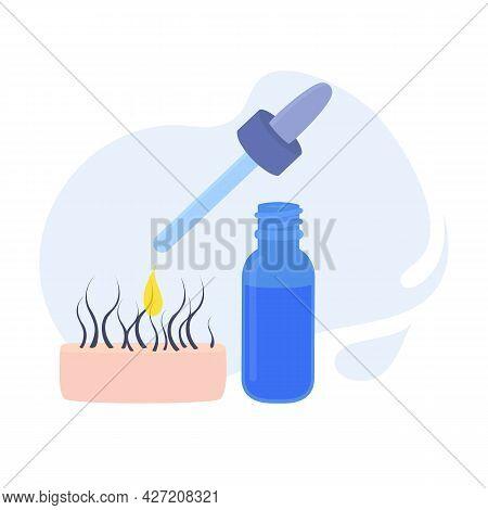 Pipette Dropper Glass Bottle Mockup For Hair Care