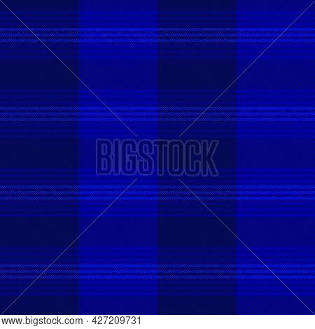 Blue Asymmetric Plaid Textured Seamless Pattern