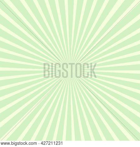 Vintage Striped Green Pattern. Retro Fashion Background, Card, Pattern. Pop Art Style