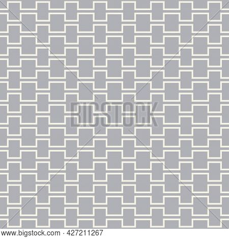 Vector Seamless Geometric Ornamental Pattern. Gray Oriental Design. Zigzag Creative Endless Texture