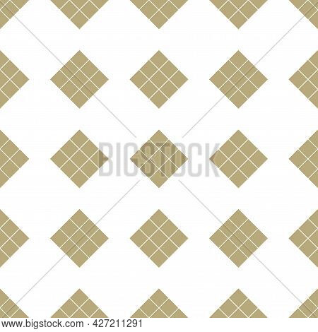 Vector Seamless Geometric Pattern. Tile Repeatable Background. Simple Regular Sqaured Texture - Endl