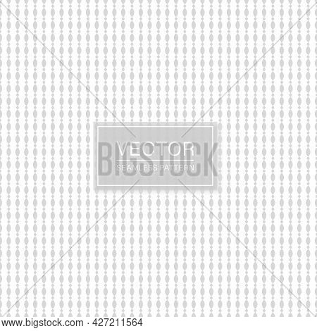 Vector Seamless Stylish Pattern. White And Gray Decorative Texture. Abstract Delicate Background
