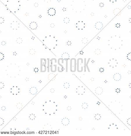 Vector Seamless Pattern - Colorful Delicate Design. Simple Repeatable Minimalistic Background. Texti