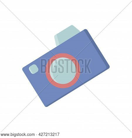 Photo Cam, Summer Digital Trend Vector Illustrations, Modern Design, Logo, Icon, Light Blue, Set Sai