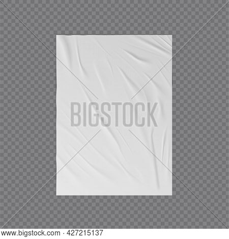 Wrinkled Paper Vector Realistic Template For Poster