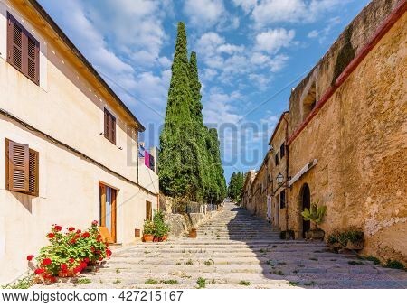 Pollenca, Old Village On The Island Palma Mallorca, Spain