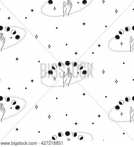 Vector Seamless Backround And Pattern With Wrists