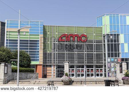 Plainfield - Circa July 2021: Amc Movie Theater Location. Amc Is Adjusting To Movie And Entertainmen