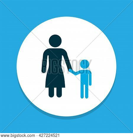 Madame Icon Colored Symbol. Premium Quality Isolated Child Element In Trendy Style.