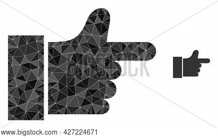 Triangle Index Finger Polygonal Symbol Illustration. Index Finger Lowpoly Icon Is Filled With Triang