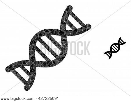 Triangle Genome Molecule Polygonal Icon Illustration. Genome Molecule Lowpoly Icon Is Filled With Tr