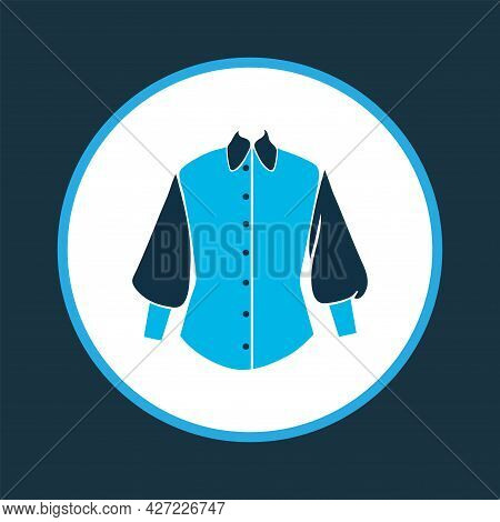 Casual Icon Colored Symbol. Premium Quality Isolated Bishop Sleeve Shirt Element In Trendy Style.