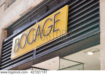 Toulouse , Occitanie France  - 06 25 2021 : Bocage Logo Text And Brand Sign Of French Store Producin