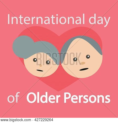 Grandparents For International Day Of Older Persons, Vector Art Illustration.